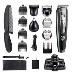 Mens Beard Trimmer Kit Cordless Mustache Hair Clippers Recha