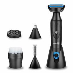 Hatteker Mens Grooming Kit 5 In 1 Body Hair Trimmer And Body