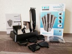 Hatteker Mens Hair Clipper Beard Trimmer Grooming Kit for Mu