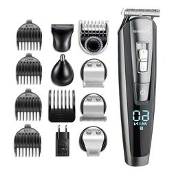 Mens Hair Trimmer Professional Cordless Clippers Barber Mach
