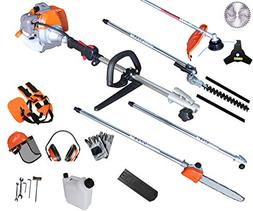 PROYAMA 42.7CC Gas Multi Function 5 IN 1 Pole Hedge Trimmer,