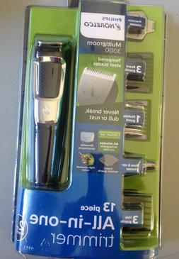 Philips Norelco Multigroom 3000 Trimmer, Nose, Ears, Beard,