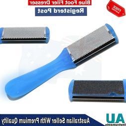 Nail File Blue Plastic Handle Foot Dresser Dead Skin Removin