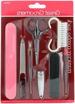 Nail Manicure set: Brush Cuticle Trimmer Scissors  Pusher /