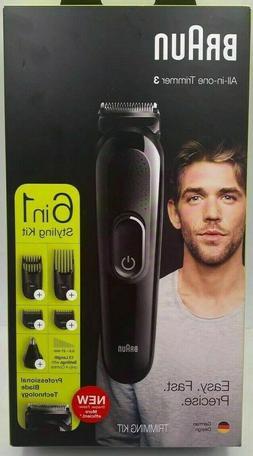 NEW- Braun 6-in-1 Men's Rechargeable Wet & Dry Electric Shav