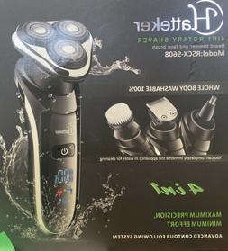 New HATTEKER Electric Shaver for Men Rotary Razor Beard Nose