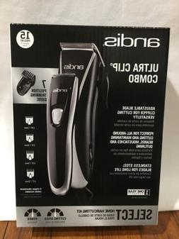 New Andis Ultra Clip Combo 15 Piece Home Haircutting Kit Hai