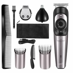 HATTEKER Beard Trimmer Kit & Hair Clippers for Men Cordless