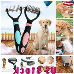 Pet Dog Cat Hair Fur Shedding Blade Trimmer Grooming Rake De