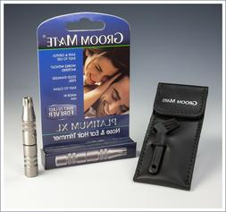 Groom Mate Platinum XL Nose & Ear Hair Trimmer w/ Pouch & Br