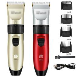 Pro Hair Clippers Trimmers Cordless Haircut Machine Ideal Fo