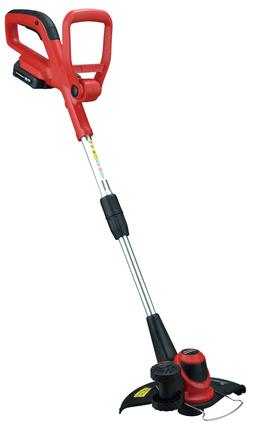 PowerSmart PS76110A Cordless String Trimmer, red, Black