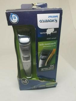 Philips Norelco QT4018/49 Series 3500 Beard Trimmer Silver D