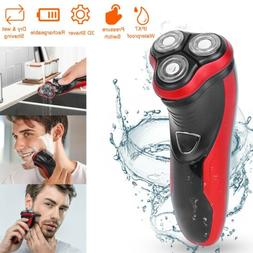 Rotary Electric Razor Shaver with Pop-up Beard Trimmer Wet &