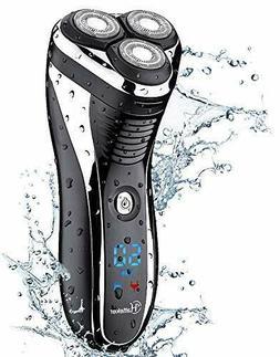 HATTEKER Electric Shaver Rotary Razor Men Cordless Beard Pop