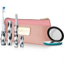 VIOLIGHT VIOLIFE White Leopard Set - Slim Sonic Toothbrush,